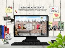 国外家用电脑平面广告设计PSD素材