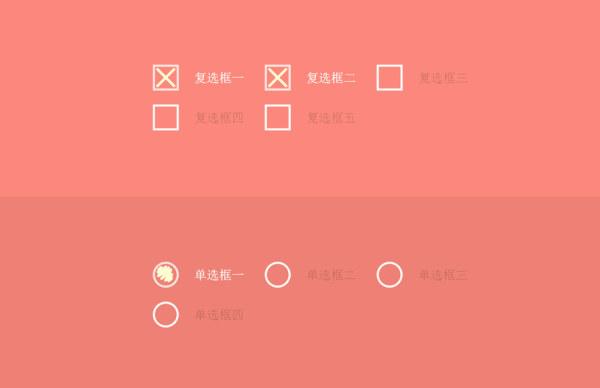 HTML5+CSS3 動態復選框、單選框