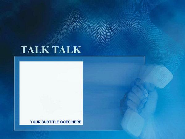 蓝色通讯科技商务PPT模板