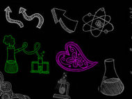可爱嘟嘟的ps化学笔刷
