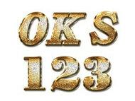 華麗黃金磨砂金屬顆粒PS字體樣式