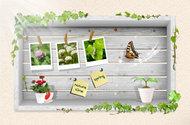 春季景象相册模板PSD素材