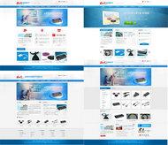 电子设备公司网站PSD素材