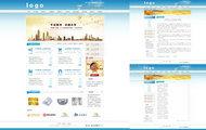 金融投资网站PSD素材