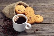 咖啡与酥饼图片