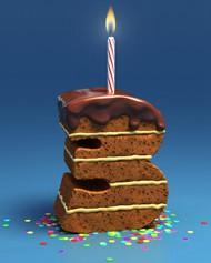 创意数字蛋糕图片