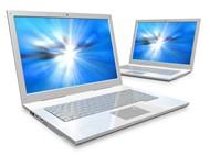 蓝色屏幕笔记本电脑图片
