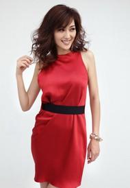 中国性感红衣美女图片