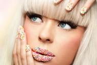 创意唇妆美甲图片