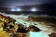 海滩夜色图片