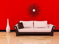 红色家居沙发摆设图片