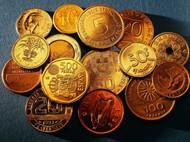 欧元硬币图片