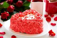 生日鲜花蛋糕图片