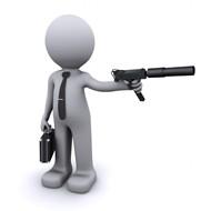 持枪的3D小人图片