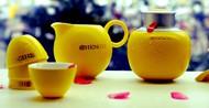 黄色茶具图片