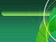 酷炫科幻绿色条纹科技ppt模版