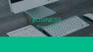 大气扁平化商务科技ppt模板