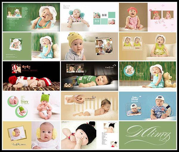 快乐宝贝儿童写真PSD图片