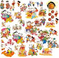中国年画娃娃PSD图片