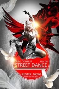 舞蹈主题海报PSD图片