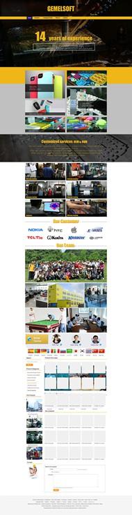 扁平化国外网页PSD图片