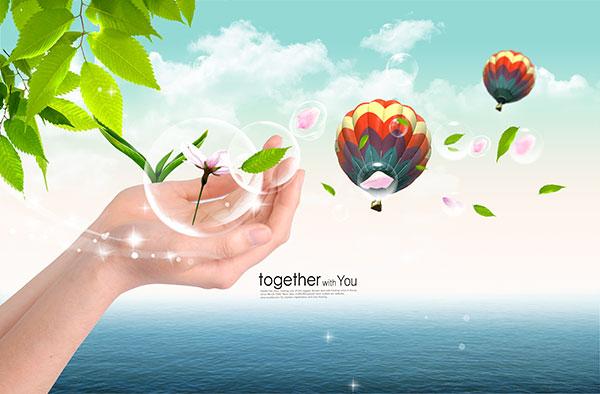 环保公益海报PSD图片