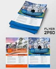 公司企业宣传单PSD图片