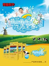 荷兰乳牛奶粉海报PSD图片