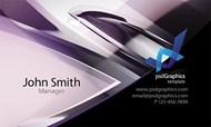 高科技名片模板PSD图片