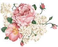 工笔画花朵插画PSD图片