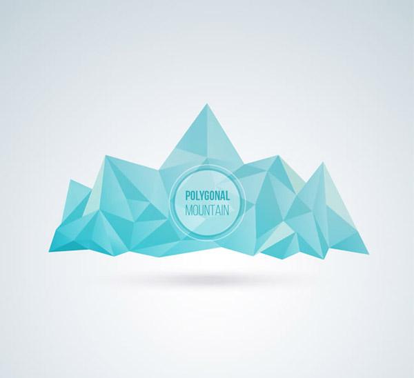 蓝色冰山矢量图片