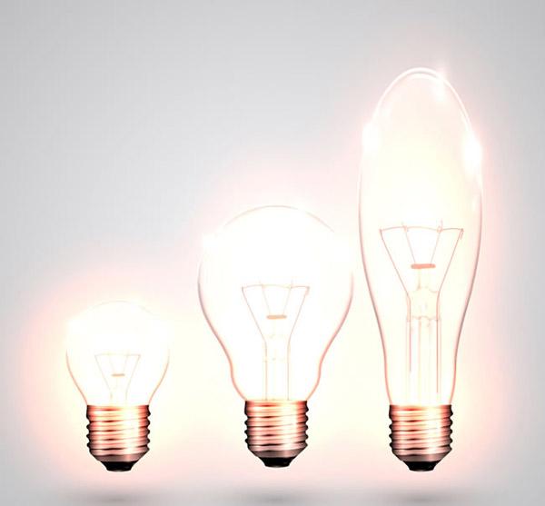 明亮灯泡矢量图片