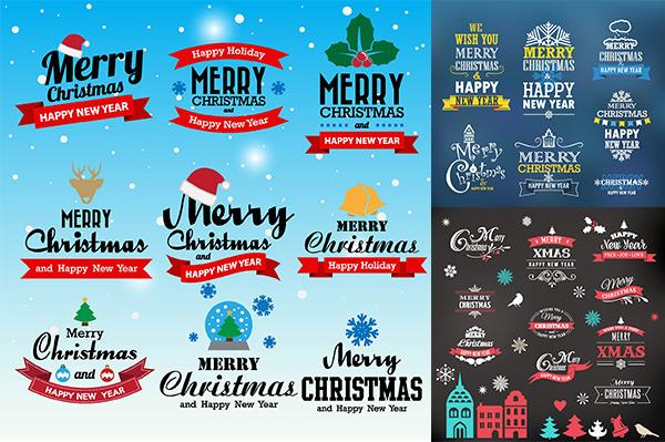 圣诞节标签矢量图片