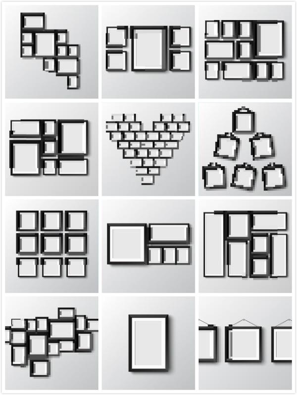 画框相框设计矢量图片