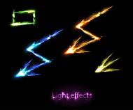 游戏雷电光芒矢量图