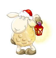 手绘羊年设计元素矢量图
