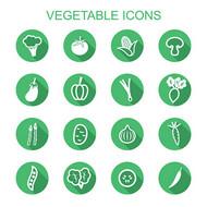 扁平化蔬菜图标矢量图