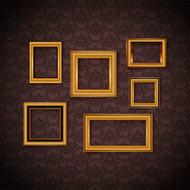 壁纸金色相框矢量图