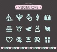 婚礼图标矢量图片