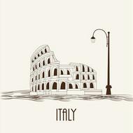 手绘著名建筑矢量图片