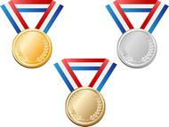 奖牌设计矢量图片