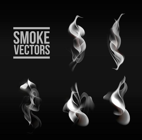 烟雾设计矢量图片