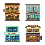 创意商务建筑矢量图片