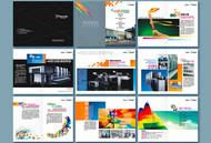 广告公司画册矢量图片