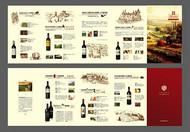 红酒企业产品折页矢量图片