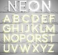 霓虹灯字母矢量图片