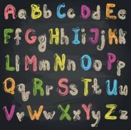 粉笔字母矢量图片