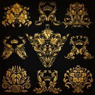 金色花纹矢量图片