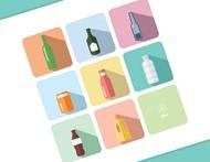 瓶子图标矢量图片