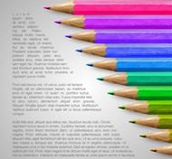 彩色铅笔矢量图片